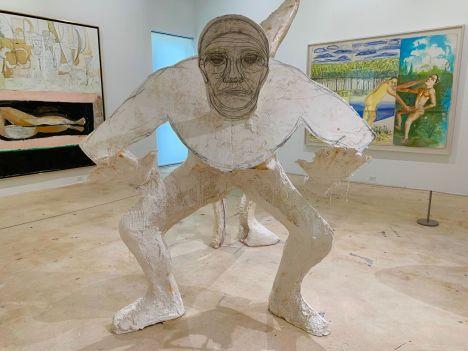 Sculpture de Thomas Houseago au Rubell Museum de Miami (collection privée d'art contemporain)