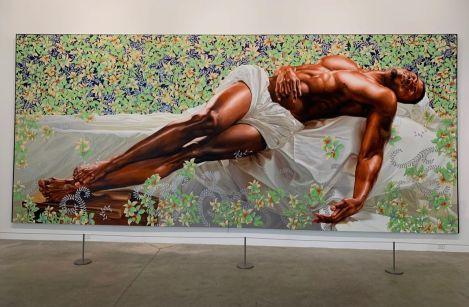 Peinture de Kehinde Wiley au Rubell Museum de Miami (collection privée d'art contemporain)