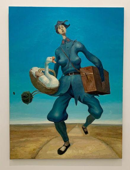 Peinture de Yang Xingwey au Rubell Museum de Miami (collection privée d'art contemporain)
