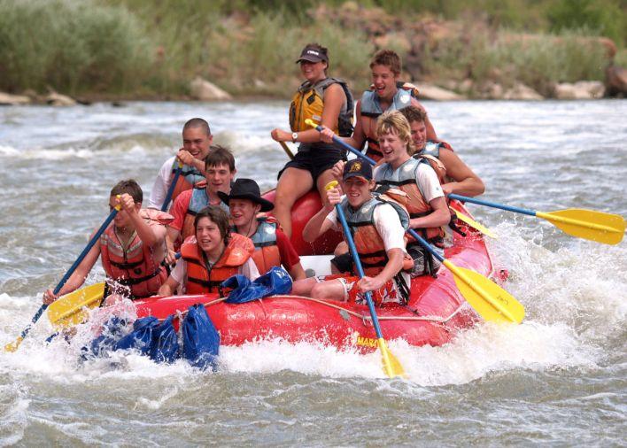 Rafting sur le Colorado à Moab.