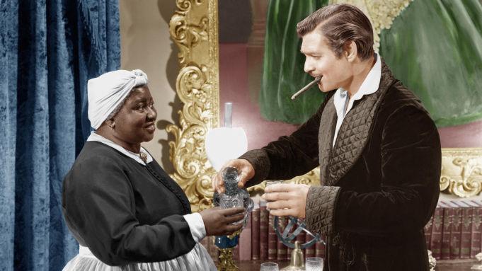 Hattie McDaniel donnant la réplique à Clark Gable dans Autant en Emporte le Vent.