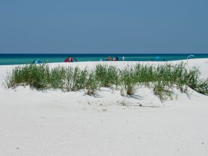 La route du Golf Islands National Seashore entre Navarre Beach et Pensacola Beach