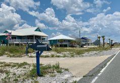 La plage de Navarre Beach en Floride