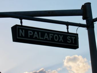Palafox Street au niveau du port de Pensacola en Floride
