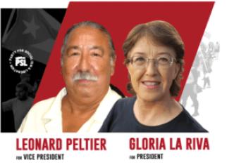 Gloria La Riva et Leonard Peltier