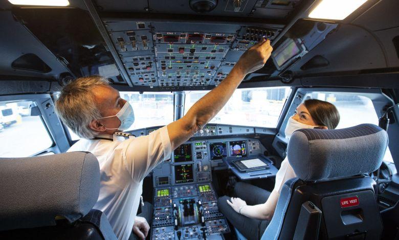 Illustration : un cockpit d'Easyjet.