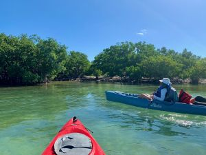 Le site d'accostage des kayaks à Indian Key, dans les Keys de Floride
