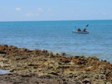 Kayak près d'Indian Key, dans les Keys de Floride