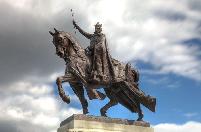 Statue de saint Louis à St. Louis (Missouri).