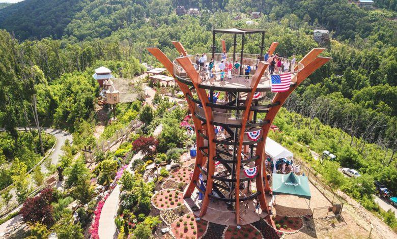 La nouvelle tour au parc Anakeesta de Gatlinburg