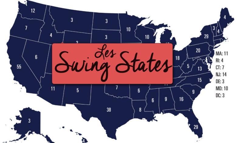 Les Swing States aux Etats-Unis en 2020