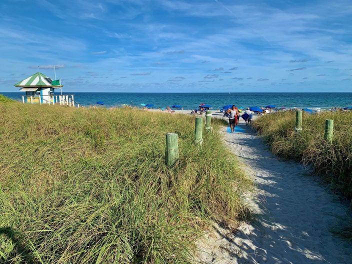 Plage d'Atlantic Dunes Park à Delray Beach en Floride