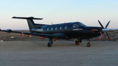 Le genre d'avion qui transporte les Snowbirds de l'autre côté de la frontière.