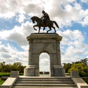 La statue de Sam Houston au Hermann Park