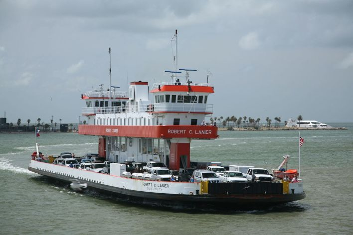 Le ferry Galveston/Bolivar.