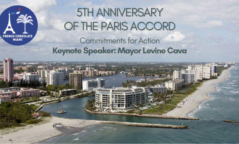 Evénement climat en Floride pour le 5ème anniversaire des Accords de Paris, organisé par le Consulat de France