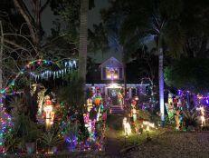 Lumière de Noël dans le quartier de Sailboat Bend à Fort Lauderdale en Floride
