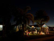 Décorations de Noël dans le quartier d'Imperial Point à Fort Lauderdale en 2020.