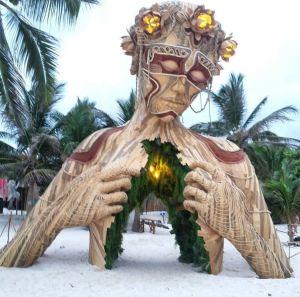 La version Tulum de la statue de Fort Lauderdale