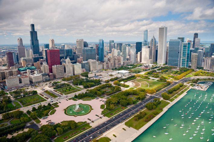 Millenial Park vu du ciel.