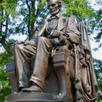 Statue d'Abraham Lincoln à Chicago