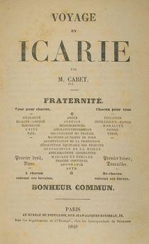 Livre : Voyage en Icarie, par Etienne Cabet.