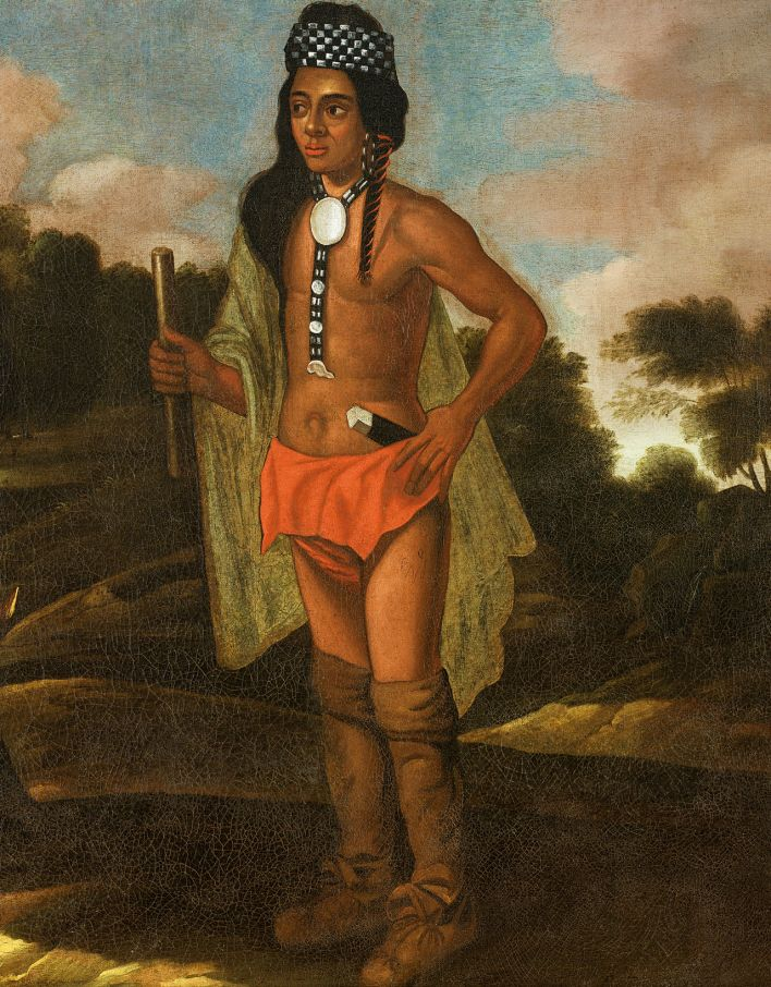 Aucun portrait de Massasoit n'a été réalisé de son vivant. Néanmoins cette peinture de 1700 dépeint ce à quoi devait ressembler un chef Wampanoag.