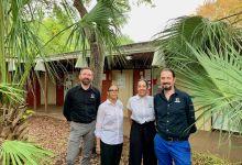 Efam : l'école Franco-Américaine de Miami. Sur cette photo : Sébastien Dhont, Marisa Duret, Aisha McLorin, Pierre-Jean Picot.