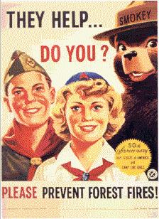 Affiche scoute aux Etats-Unis
