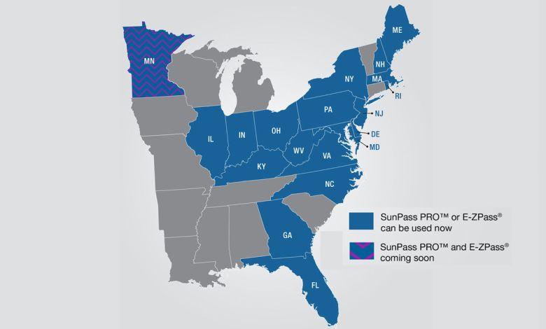 Une version de Sunpass acceptée dans 18 Etats américains !