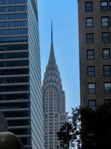 Le Chrysler Building vu depuis Bryant Park