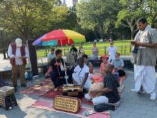 Krishnas à Washington Square à Greenwich Village à Manhattan, New-York