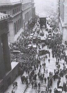 Le krach de 1929 à Wall Street