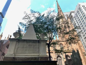 Tombe d'Alexander Hamilton à la Trinity Church de Wall Street