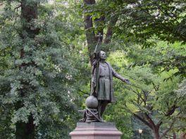 Statue de Christophe Colomb près du Mall de Central Park.