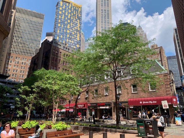 Pearl Street dans le Financial District de News-York