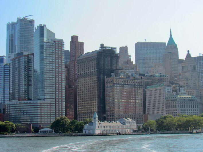 Vue sur Manhattan depuis le bateau