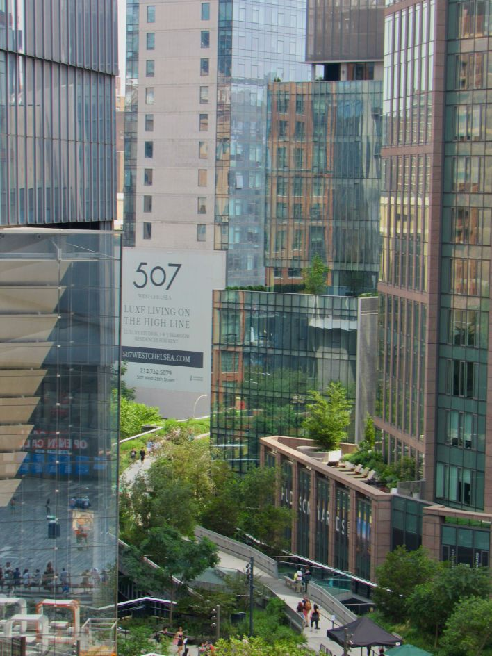 L'entrée nord de la High Line photographiée depuis Vessel.
