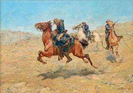 """""""My Bunkie"""" par Charles Schreyvogel (1899). Metropolitan Museum of Art de New-York"""