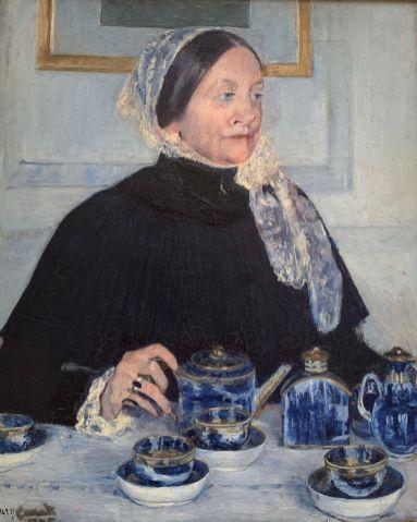 """Lady at the Tea Table"" de Mary Cassatt (1883-85). Metropolitan Museum of Art de New-York"