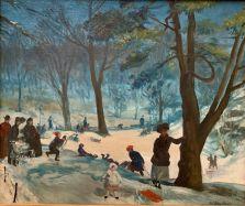 Central Park en hiver par Willam Glackens (1905) au Metropolitan Museum of Art de New-York