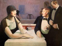 M. et Mme Chester Dale dînent dehors, par Guy Pène du Bois (1963) au Metropolitan Museum of Art de New-York