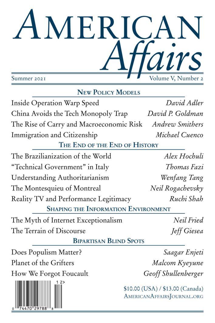 L'édition de l'été 2021 d'American Affairs