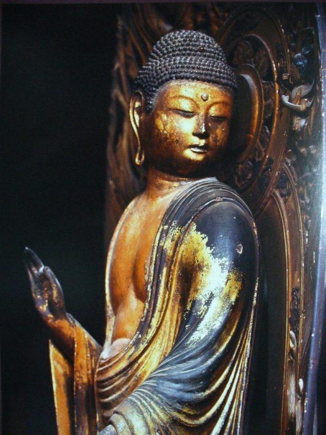 Statue Mikaeri Amida Bouddha Eikando Kyoto