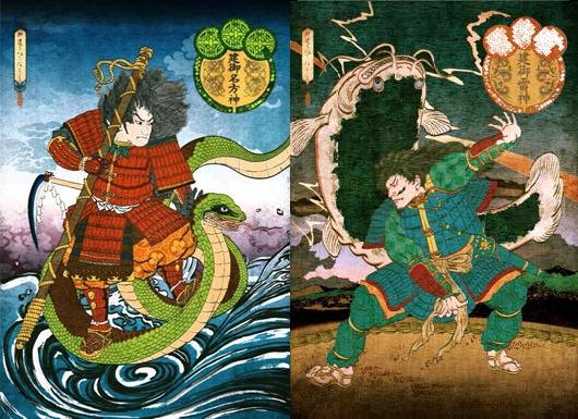Takeminakata et Takemikazuchi