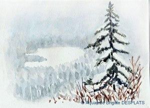 Brigitte DESPLATS Paysage d'hiver (Visioateliers)