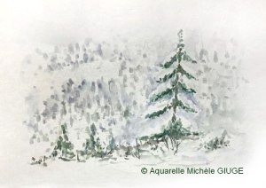 Michèle GIUGE Paysage d'hiver (Visioateliers)