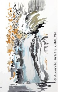 Arlette CHALON  Cascade en hiver (Visioateliers)