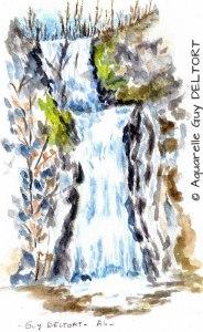 Guy DELTORT Cascade en hiver (Visioateliers)