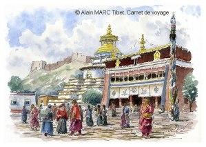 Alain MARC Monastère de Palkor Tibet